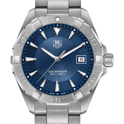 Tag Heuer 300M Aquaracer Quartz Blue Sunray Dial Watch 40.5MM WAY1112.BA0928