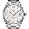 Tag Heuer Ladies Carrera Quartz Mother of Pearl Diamond Dial Watch 32MM WAR1314.BA0778