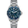 Tag Heuer 300M Aquaracer Blue Dial Aluminum Bezel Stainless Steel Watch 41MM WAY111C.BA0928 darien fairfield