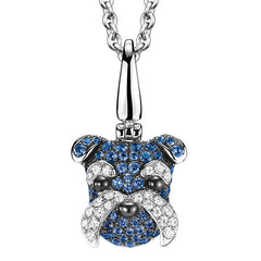 Qeelin WANG WANG Small Morgen Schnauzer Dog Pendant Necklace Blue Sapphires
