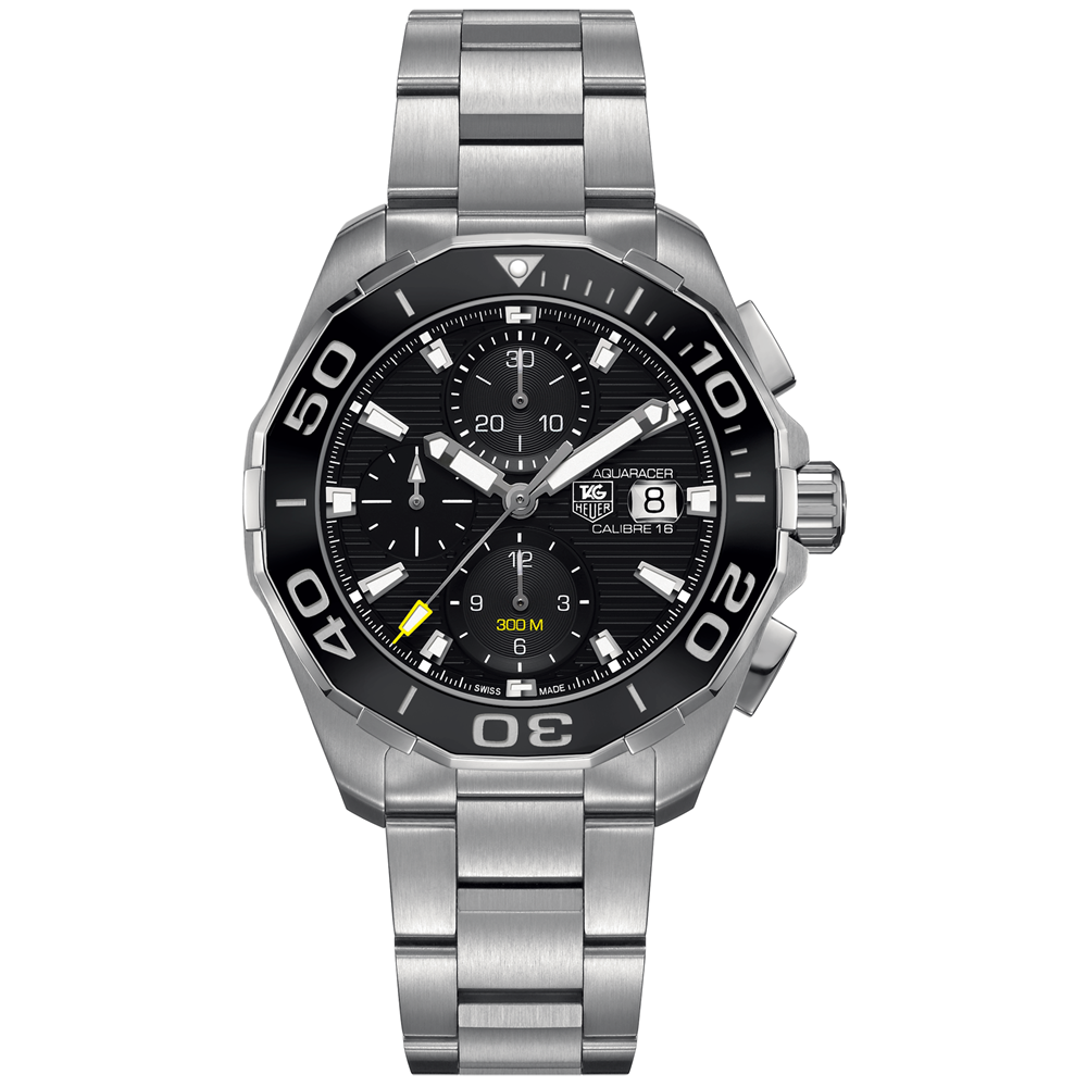 TAG Heuer Aquaracer 300M Calibre 16 Automatic Chronograph 43MM Black Ceramic Bezel CAY211A.BA0927