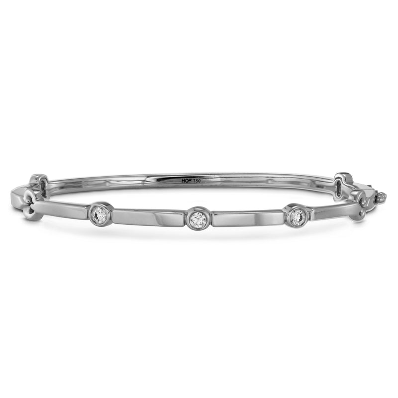 Hearts on Fire 18k White Gold Medium Copley Multi-Stone Diamond Bangle