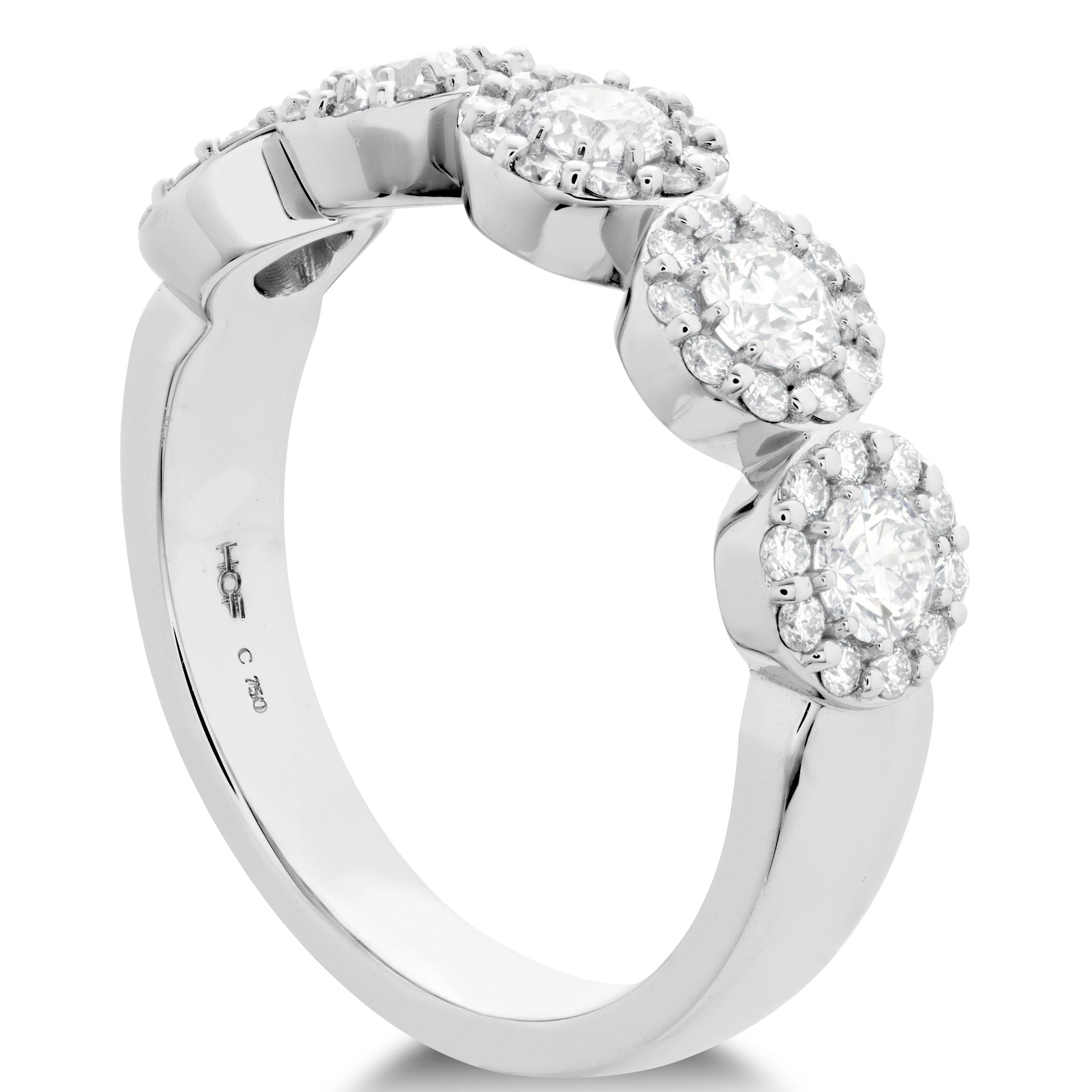 Hearts on Fire 5-Stone Round Fulfillment Diamond Band Ring in 18k White Gold