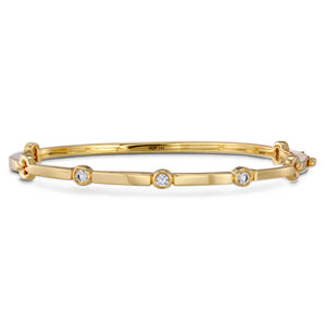 Hearts on Fire 18k Yellow Gold Medium Copley Multi-Stone Diamond Bangle