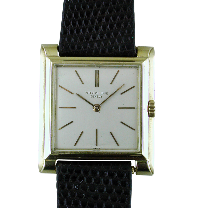 Vintage Patek Philippe Geneve 18K Yellow Gold Square Art Deco Watch Ref. 2562