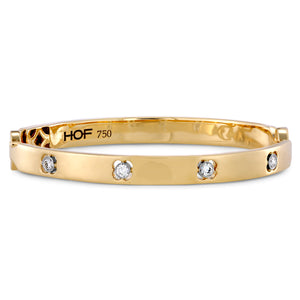 Hearts on Fire 18k Yellow Gold Copley Diamond Bangle Bracelet
