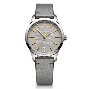 ladies alliance quartz grey and mother of pearl dial 241756