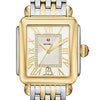 Michele Deco Madison Diamond Dial Roman Numerals Two-Tone Watch