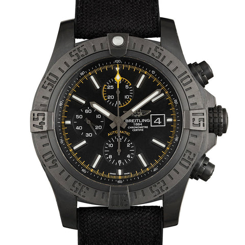 Certified Pre-Owned Breitling Super Avenger II USA Limited Blacksteel Automatic M133711 48mm