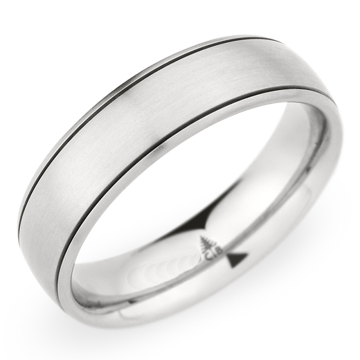 Christian Bauer Men's White Gold Brushed Wedding Band Ring 14K 6mm