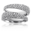 Roberto Coin Scalare 2 Row Diamond Ring White Gold 8881439AW65X