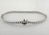 Single Row Four Prong Set Round Diamond Tennis Bracelet 3.32 Carat 18K White Gold