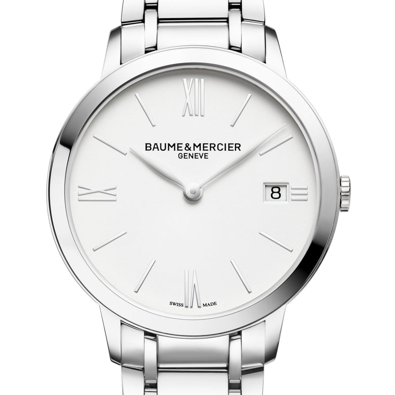 Baume & Mercier Classima White Dial 36.5mm Womens Steel Watch M0A10356 Quartz