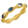 "Lika Behar ""Love"" Stackable Ring Band  in 22K Gold with Rainbow Moonstones LV22-R-506-GMS-7"