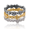 "Lika Behar ""Dylan"" Oxidized Sterling Silver Stackable Diamond Band Ring DY-R-104-SILOXD"