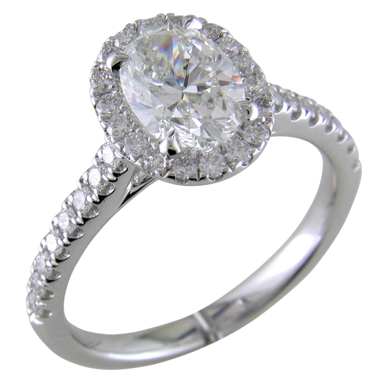 5f3afeaa3e0 Oval Brilliant 1.30 carat Forevermark Halo Engagement Ring Platinum