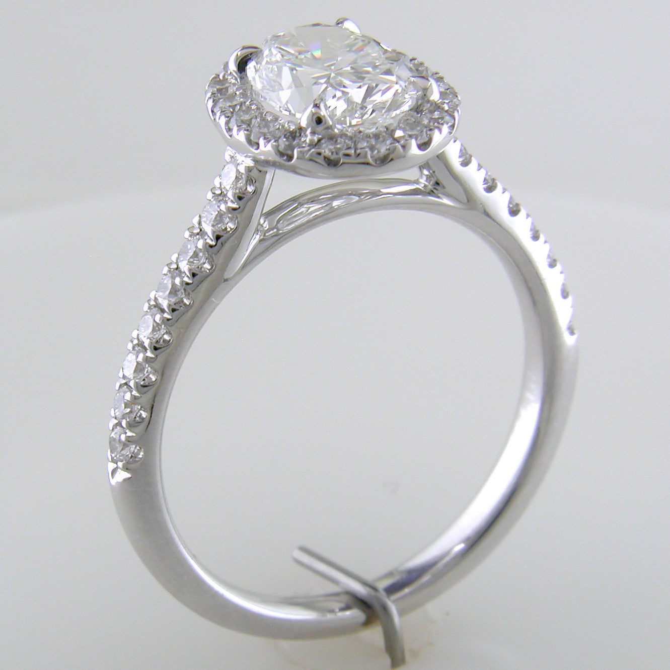 Oval Brilliant 1.30 carat Forevermark Halo Engagement Ring Platinum