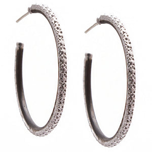 Armenta New World Scalloped Edge 40mm Hoop Earrings 08724