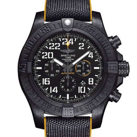 Certified Pre-Owned Breitling Avenger Hurricane 50 24h Breitlight Volcano Black Yellow XB1210E4/BE89