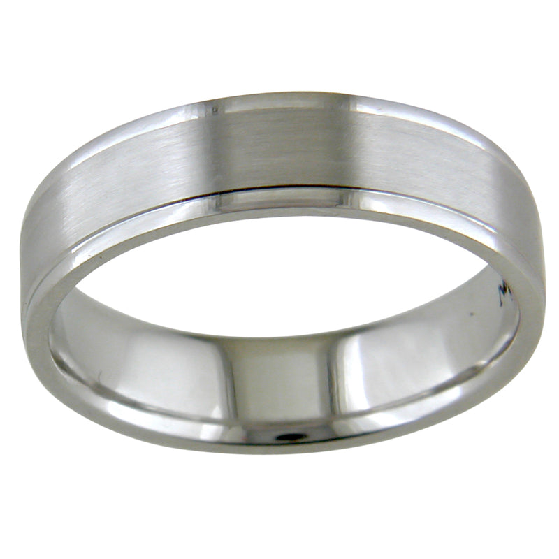 Men's Platinum Satin Finish Platinum Wedding Band Ring 5.5mm