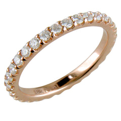 Diamond Eternity Wedding Band Anniversary Ring 18K Rose Gold