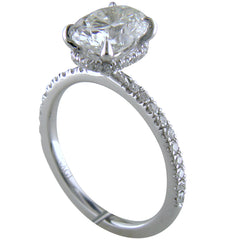 Oval Brilliant 2.00 Carat Engagement Ring 18K White Gold