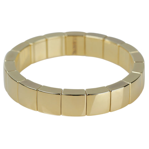 Roberto Demeglio Aura 1 Row Bracelet in 18K Yellow Gold Plated Ceramic