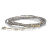 Grey Slate Moonstone Beaded Wrap Bracelet & Necklace 34""