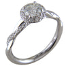 3/4 Carat Round Diamond 18K White Gold Engagement Ring with Halo and Twist Pave