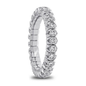 Mattioli X-Band Celebration Stretch Diamond Eternity Band Ring 18K 1.31 carats tw