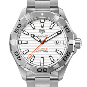Tag Heuer 43MM Automatic Aquaracer White Dial Watch WAY2013.BA0927