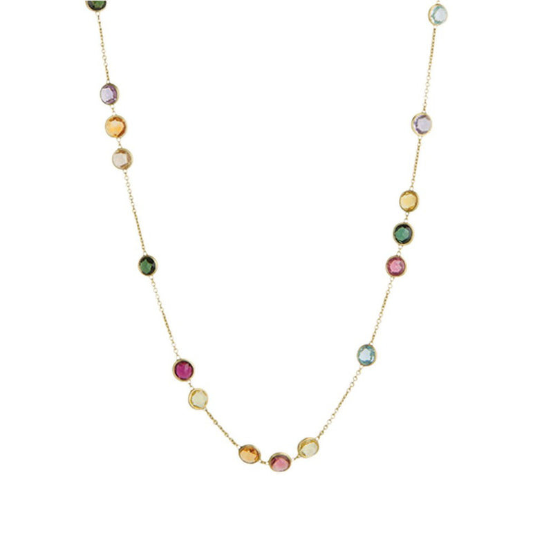 Marco Bicego 18k Yellow Gold Jaipur Multi-Colored Necklace 36in. CB1309 MIX01 Y