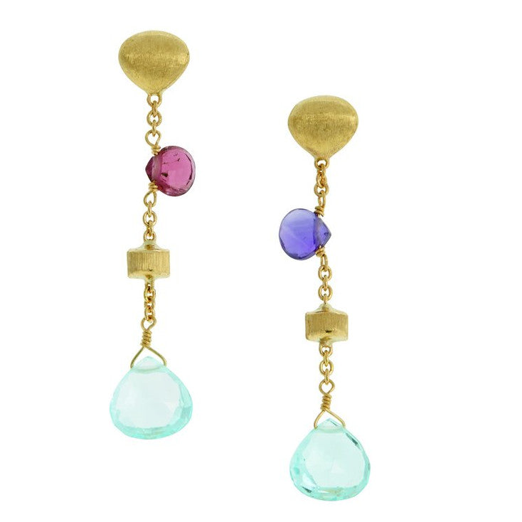 Marco Bicego 18K Yellow Gold Paradise Single Drop Earrings OB1554 MIX09