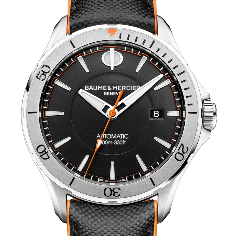 Baume & Mercier Clifton Club Black & Orange 42mm Automatic Watch MOA10338