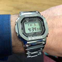 CASIO G-SHOCK GMW-B5000D-1 Bluetooth Model Full Metal Solar Square Watch Steel