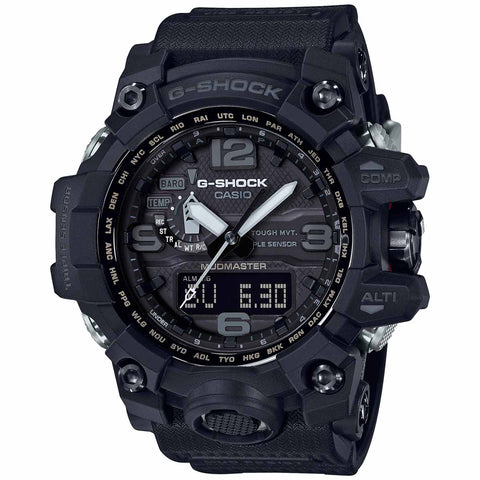 Casio G-SHOCK Mudmaster 2018 Solar Black World Compass Alt. GWG1000-1A1 Watch