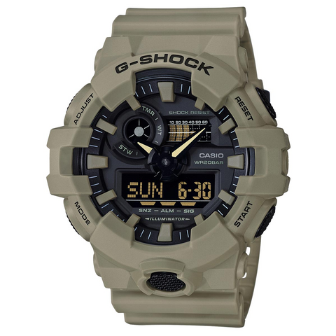 Casio G-Shock Utility Color Collection Analog-Digital Tan/Beige Mens Watch GA700UC-5A