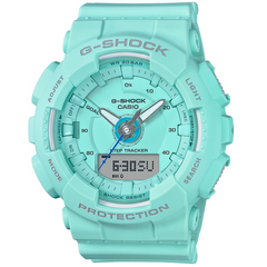 Casio G-Shock Step Tracker S Series Light Teal Blue Ladies Watch  GMAS130-2A