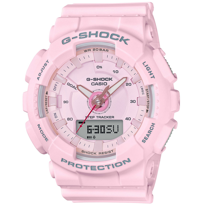 Casio G-Shock Step Tracker S Series Light Pink Ladies Watch GMAS130-4A