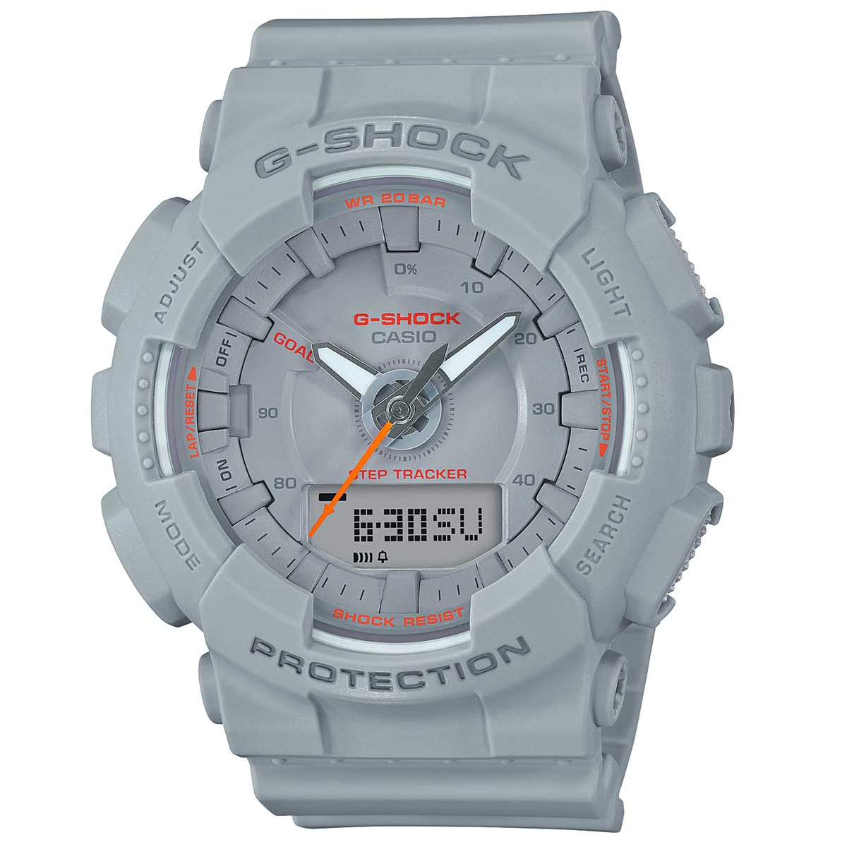 Casio G-Shock Step Tracker S Series Grey Ladies Watch GMAS130VC-8A
