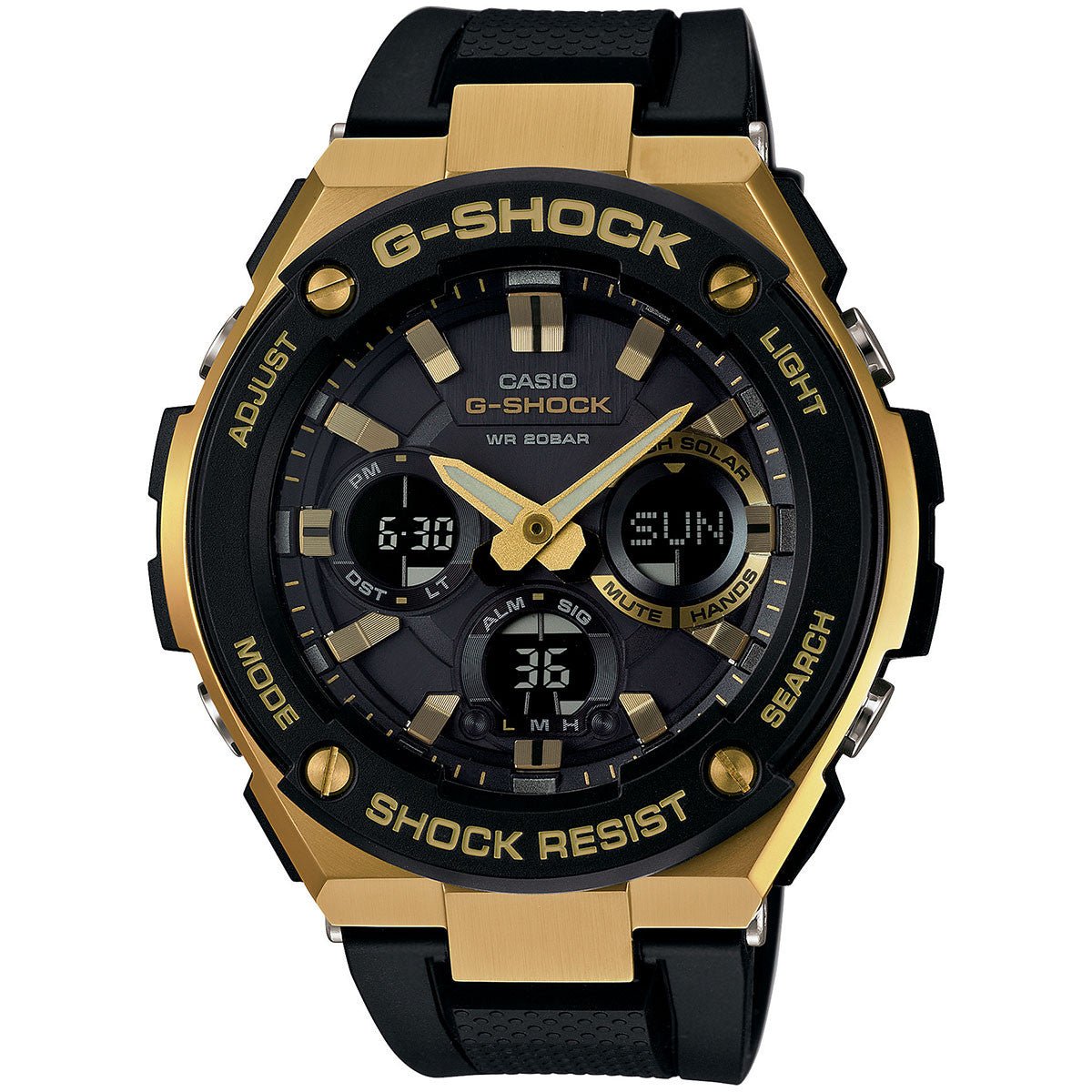 Casio G-Shock G-Steel Layer Guarded Structured Gold Case Chronograph Watch GSTS100G-1A