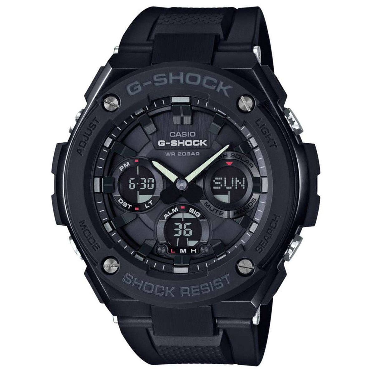 Casio G-Shock G-Steel Layer Guard Structured All Black Mens Watch GSTS100G-1B