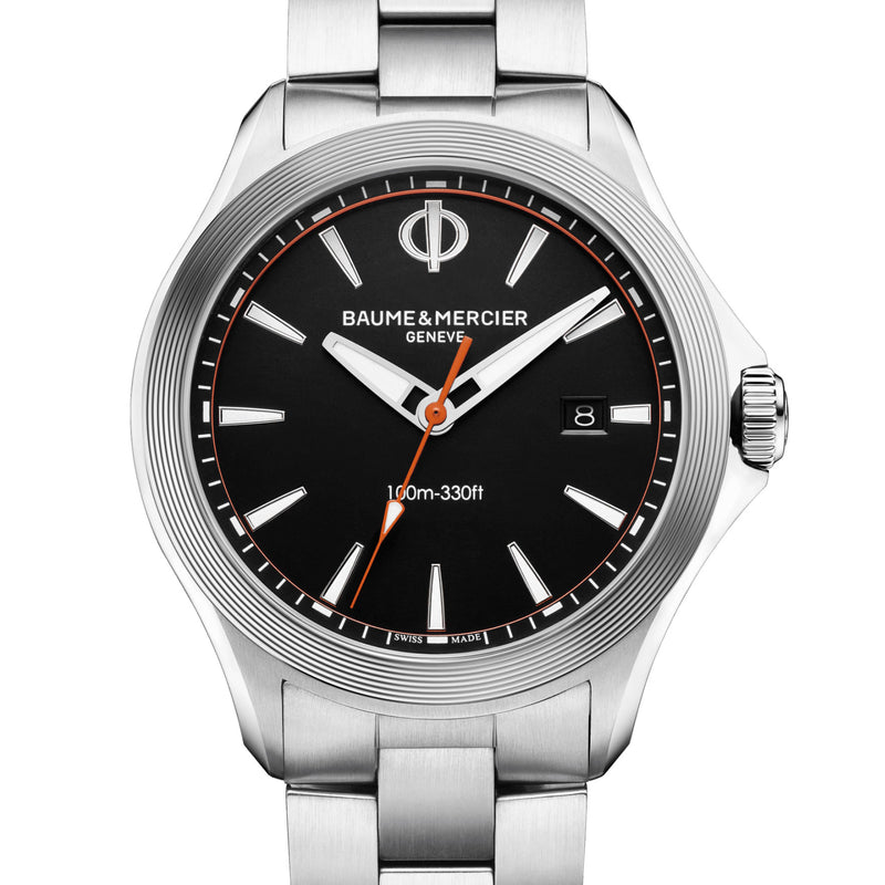 Baume & Mercier Clifton Club Black Dial 42mm Quartz Watch M0A10412