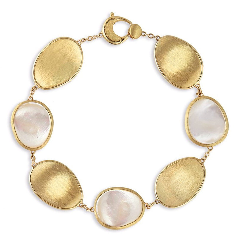 Marco Bicego White Mother of Pearl Lunaria Bracelet BB2099 MPW
