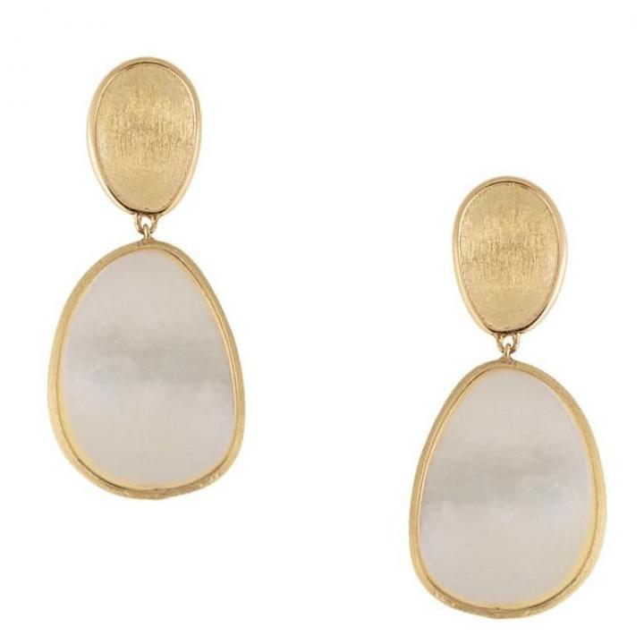 Marco Bicego 18k Yellow Gold Lunaria Double Drop Earrings OB1403