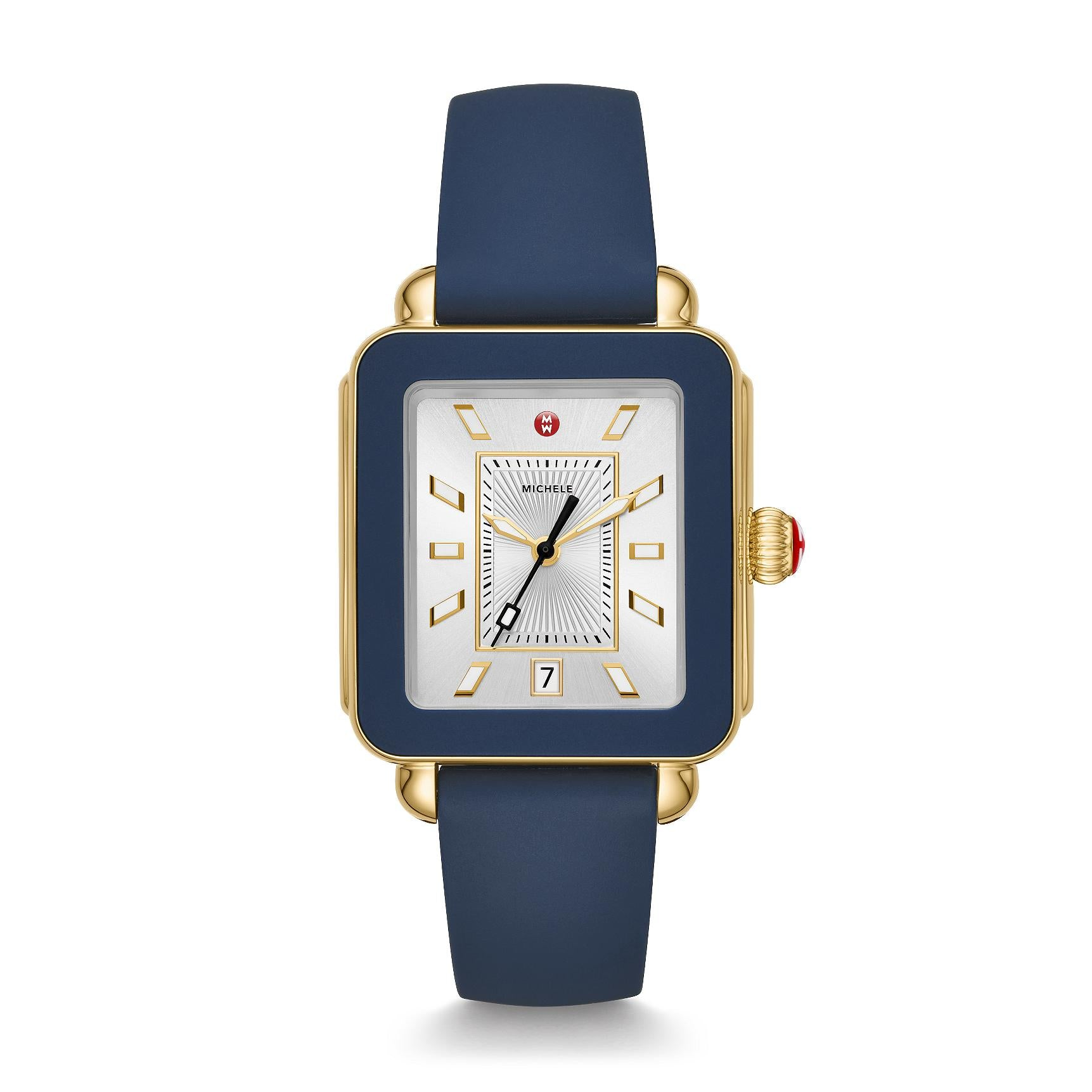 1549d27da Michele Deco Sport Gold Tone and Navy Silicone Watch MWW06K000001 ...