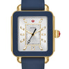 Deco Sport Gold Tone and Navy Silicone Watch  MWW06K000001