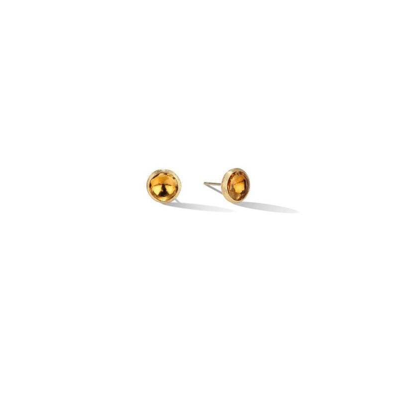 Marco Bicego Jaipur Citrine Yellow Gold Stud Earrings OB957 QG01Y