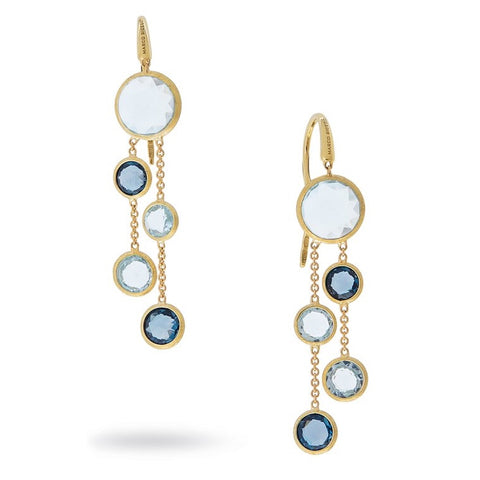 Marco Bicego OB1290 MIX725 Jaipur Double Strand Blue Topaz Drop Earrings