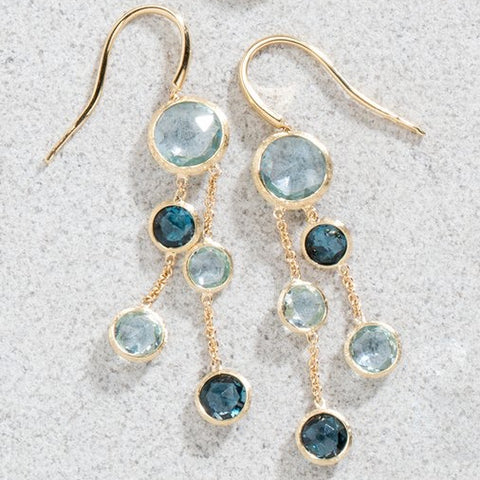 Marco Bicego OB1290 MIX725 Jaipur Double Strand Blue Topaz Earrings